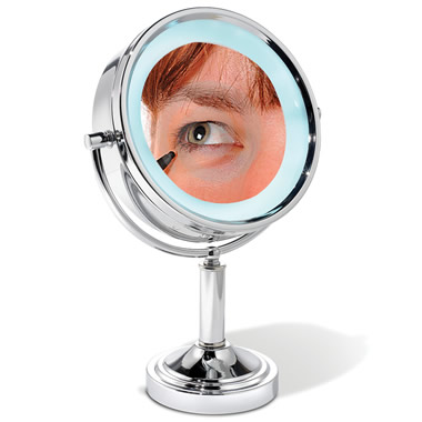 The 15X Magnifying Vanity Mirror.
