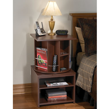 The turntable nightstand hammacher schlemmer Things to use as nightstands