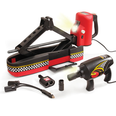 The Powered Automotive Jack And Impact Wrench.
