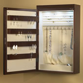 24&quot; Wall Mounted Lighted Jewelry Armoire.