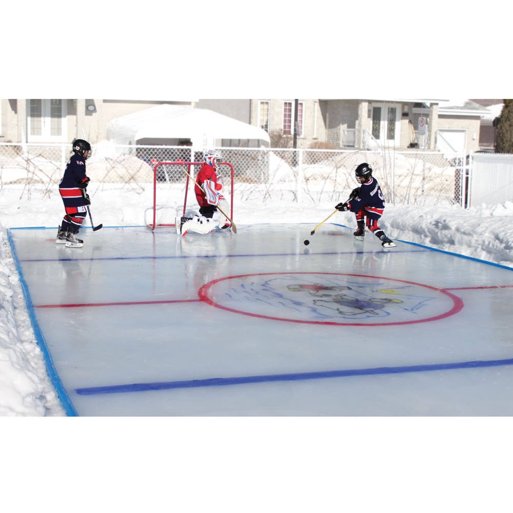 Personalized Backyard Hockey Rink
