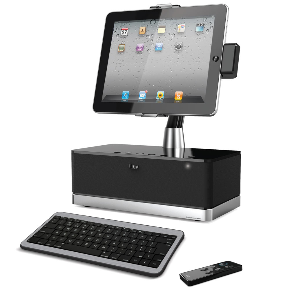 the ipad docking station hammacher schlemmer. Black Bedroom Furniture Sets. Home Design Ideas