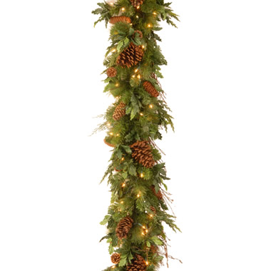 The Mixed Bough Prelit Juniper Garland