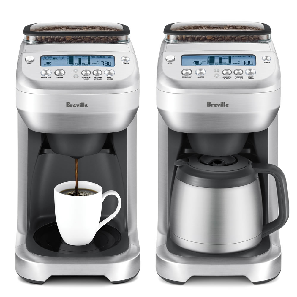 The Perfect Portion Grind and Brew Coffee Maker - Hammacher Schlemmer