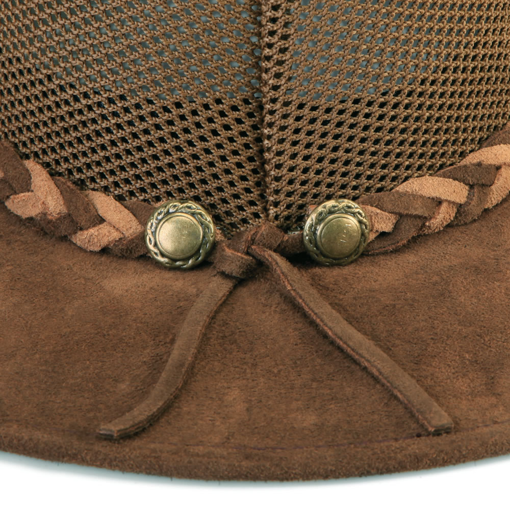 The Ventilated Leather Cattlemen's Hat 2