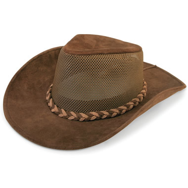 The Ventilated Leather Cattlemen's Hat.