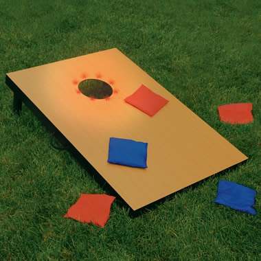 The Dusk To Dawn Beanbag Toss Game.