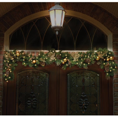 The St. John's Wood Golden Cordless Holiday Trim (Garland).