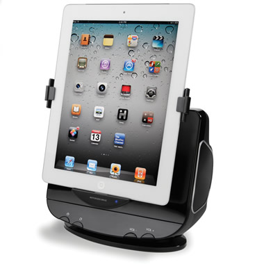 The Powered Rotation iPad Stereo Dock.