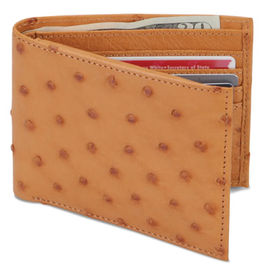 The Ostrich Leather Wallet.