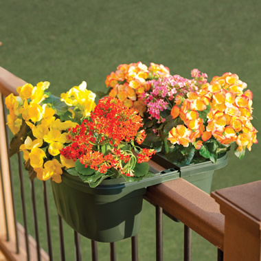 The Adjustable Balcony Rail Planter.