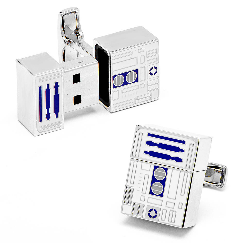 The R2-D2 USB Cufflinks 1