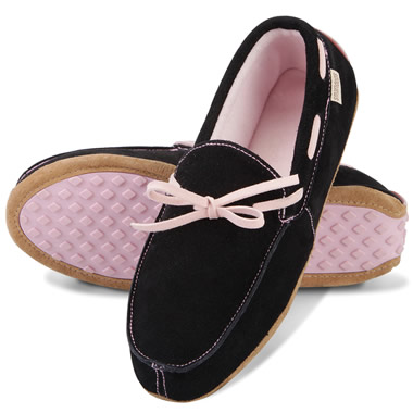 The Lady's Deer Suede Inside/Outside Moccasins.