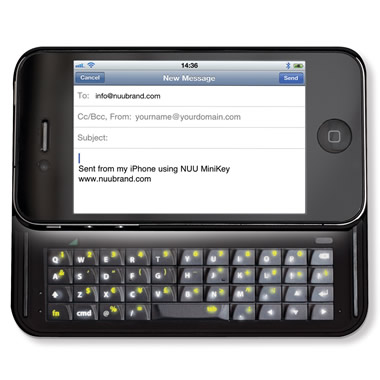 The Illuminated iPhone Slide Out Keyboard.