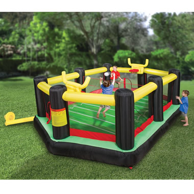 The Inflatable Backyard Sports Arena.