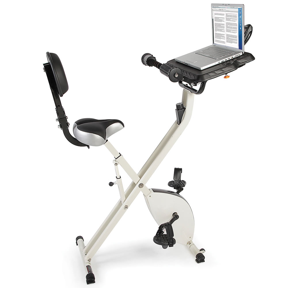The Foldaway Exercise Bicycle Desk 1