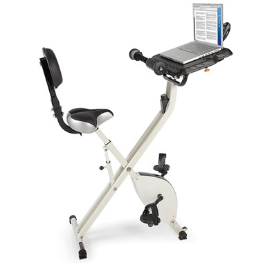 The Foldaway Exercise Bicycle Desk.
