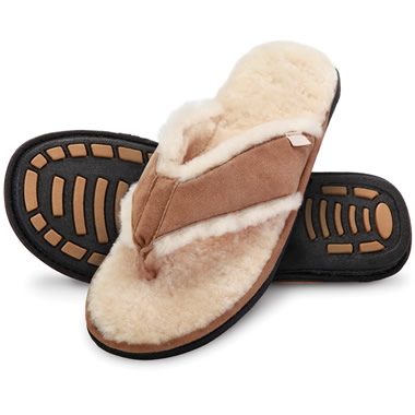 The Gentlemen's Shearling Comfort Sandals.