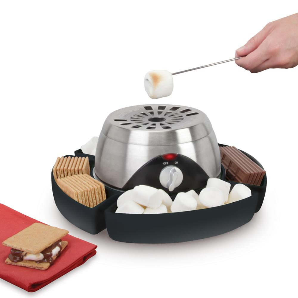 the indoor flameless marshmallow roaster hammacher schlemmer