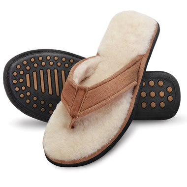 The Lady's Shearling Comfort Sandals.