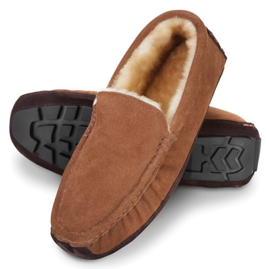 The Gentlemen's Genuine Shearling Driving Moccasins.