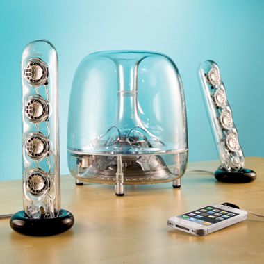 The Resonating Transparent Speakers.