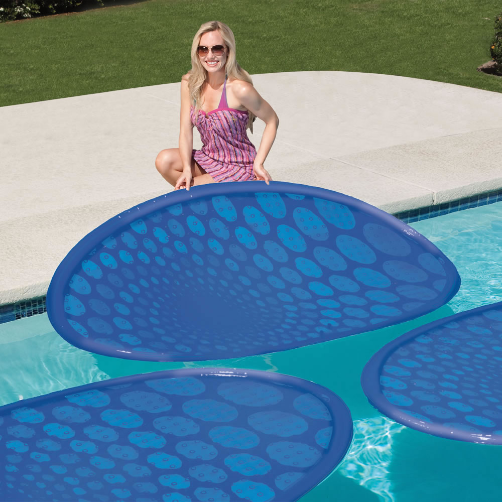 The Solar Pool Heating Rings Hammacher Schlemmer