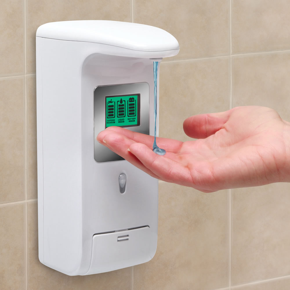 The Hands Free Shower Dispenser Hammacher Schlemmer