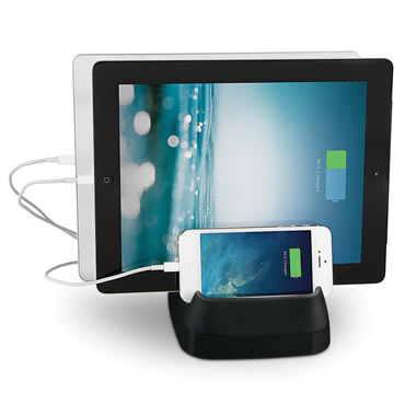 The Cord Storing Three Device Charger.
