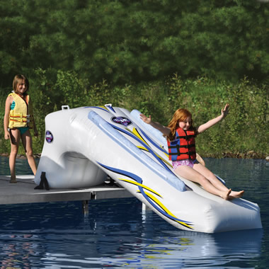 The Inflatable Lake Slide.