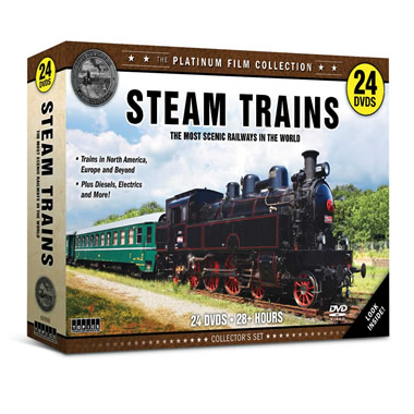 The Golden Age Of Steam Locomotives DVDs.