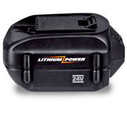 Additional 24-volt rechargeable lithium-ion battery for The Best Rechargeable Yard Trimmer.