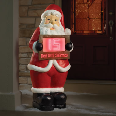 The Countdown To Christmas 4' Santa