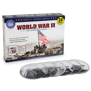 The National Archives History of World War II DVDs.