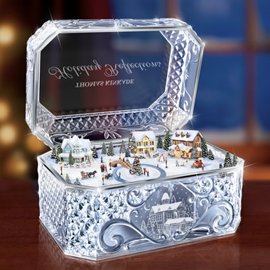 The Thomas Kinkade Crystal Music Box.
