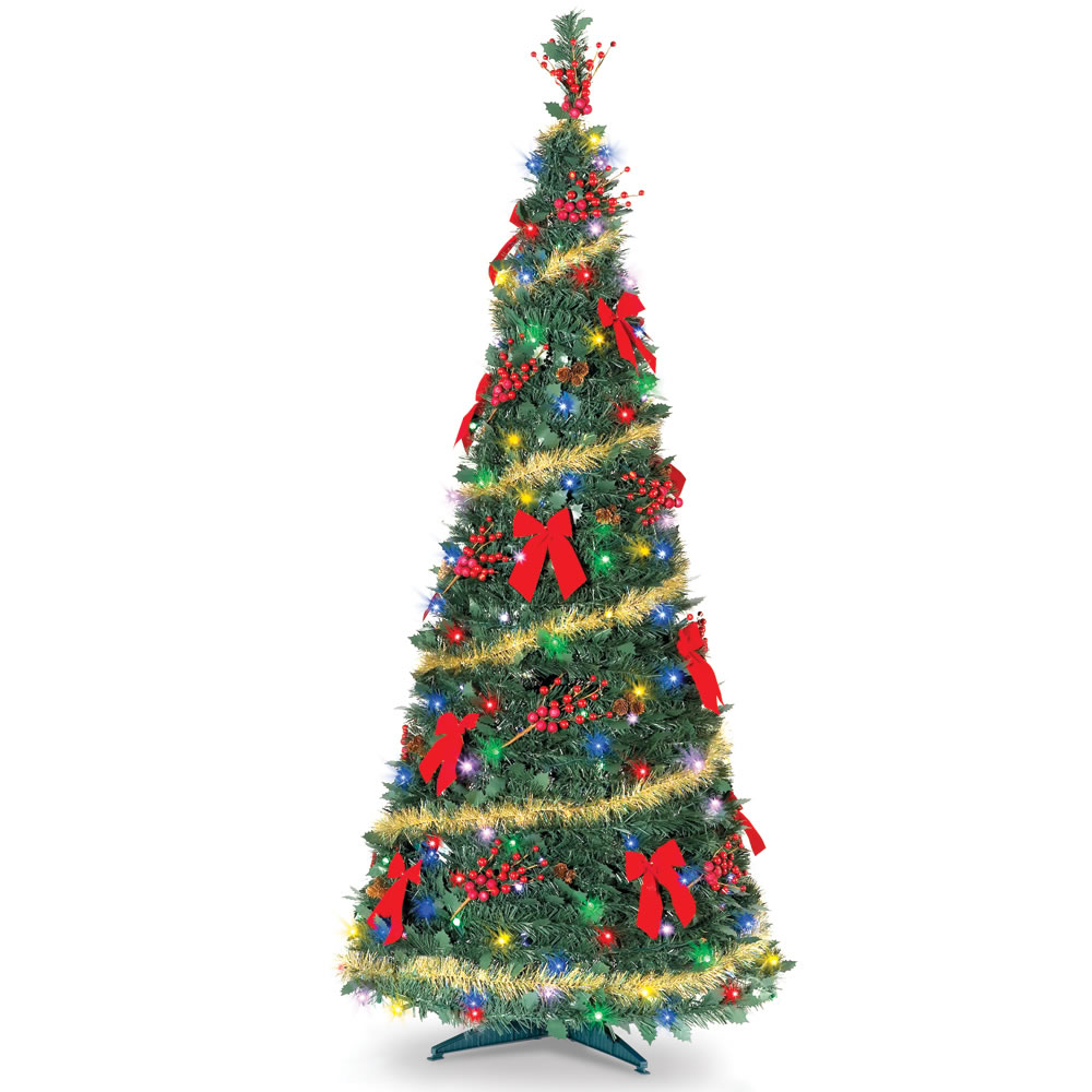 Pop Up Christmas Trees With Lights: The Cordless Prelit Pop Up Christmas Tree (6')