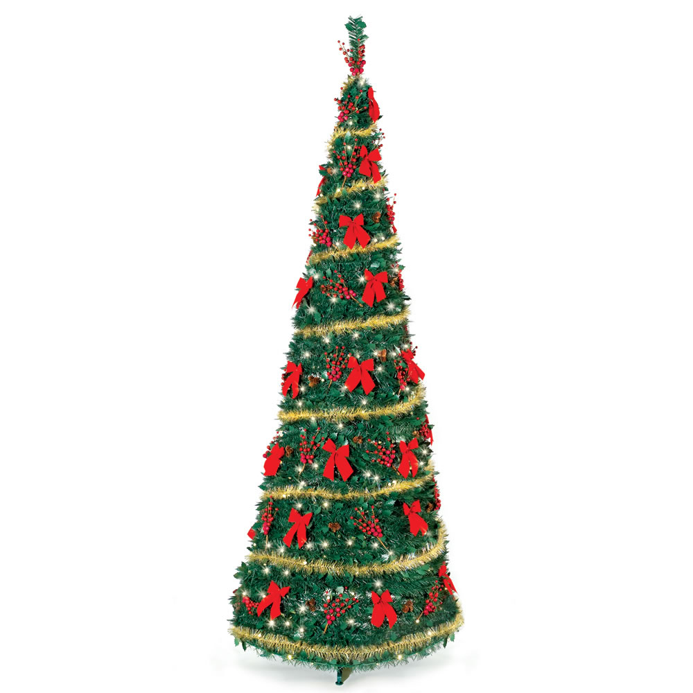The Cordless Prelit Pop Up Christmas Tree (9') 1