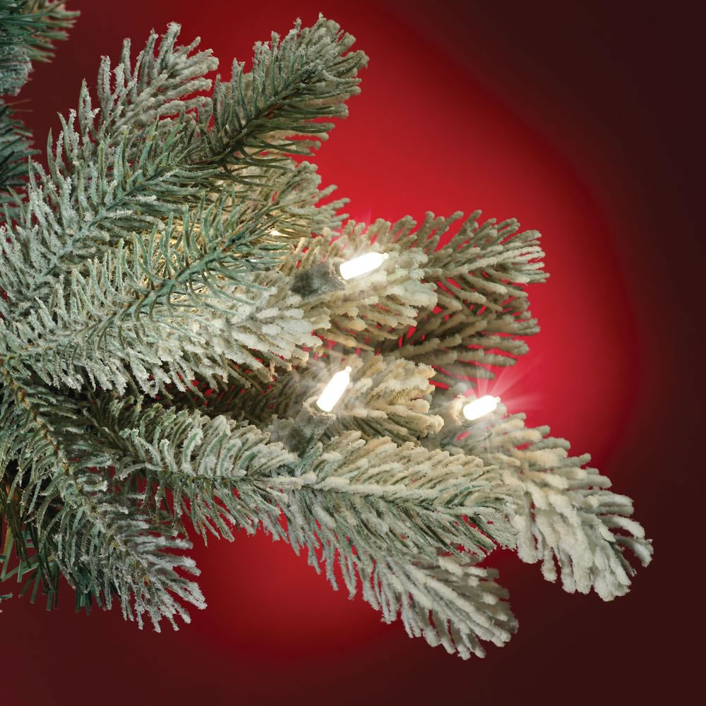 The Most Realistic Flocked Prelit Spruce (4 5' Full)2