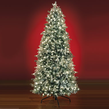 The Most Realistic Flocked Prelit Spruce  (7.5' Full).