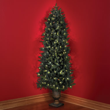 The Cordless Prelit Douglas Fir Corner Tree (7')