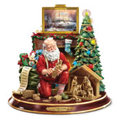 The Thomas Kinkade Woodcarving Santa.