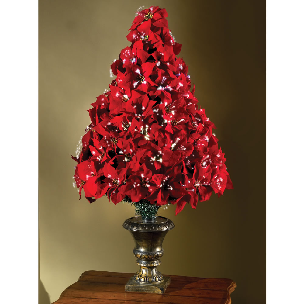 Fiber Optic Poinsettia Christmas Tree