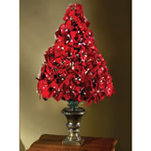 The 4' Fiber Optic Poinsettia Tree.