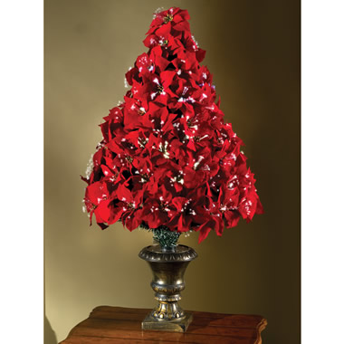 The 4' Fiber Optic Poinsettia Tree