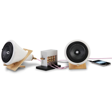 The Sound Enhancing Ceramic Speakers.