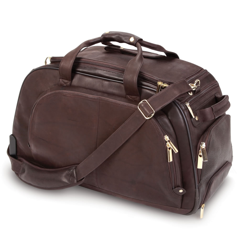 The Bomber Jacket Leather Wheeled Duffel 3
