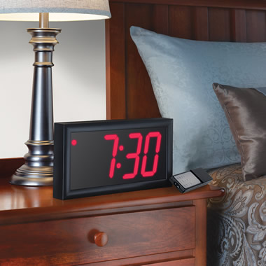 The Giant Display Alarm Clock.