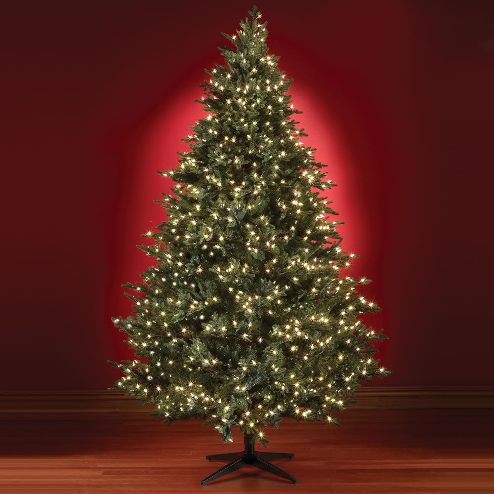 Slim white christmas tree with lights - The Five Minute Christmas Tree