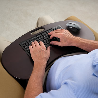 The Wireless Lap Desk Keyboard.