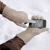 The Touchscreen Cashmere Gloves.